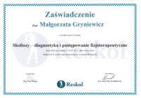 skoliozy - diagnostyka i postępowanie fizjoterapeutyczne